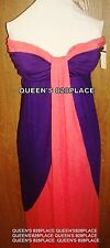 Nwt Forever Women's Small S Strapless Stretch Pink Purple maxi Dress Summer New