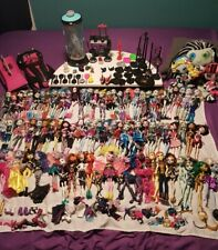 HUGE MASSIVE Monster High dolls lot accessories pets car 82 DOLLS Mattel plush