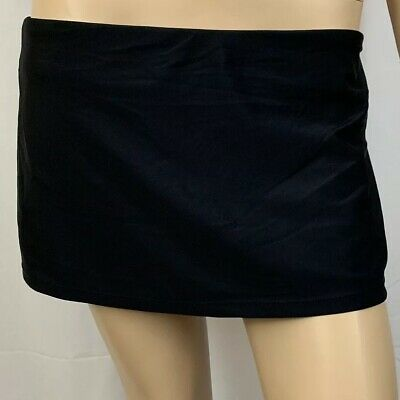 NWTS ISLAND ESCAPE Ladies 10 Black Ruffle Skirtini Skirt Swimsuit Bottom