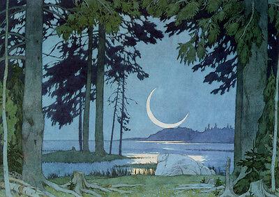 Bilibin Russian Folk Art Print Moon Lake