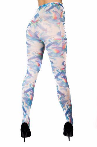 Ladies//Womens Unicorn printed tights 02