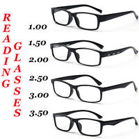 Reading Glasses, Unisex / Mens Ladies Trendy Designer, 4 Style, Black