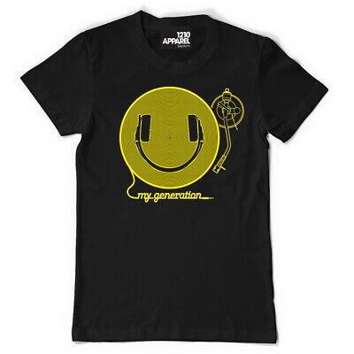 DMC Technics Happy My Generation Smiley DJ Headphones t-shirt s//m//l//xl//xxl