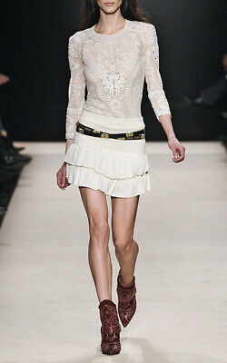 """Nwot Isabel Marant Runway """"water"""" Smocked Ruffle Mini Skirt Sz 40 Mainline Silk Online Discount Clothing, Shoes & Accessories Women's Clothing"""