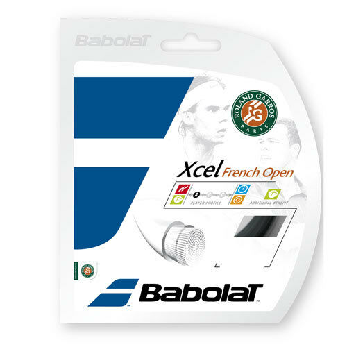 Babolat Multifilament Tennissaite 1,25mm XCEL French Open 12m black
