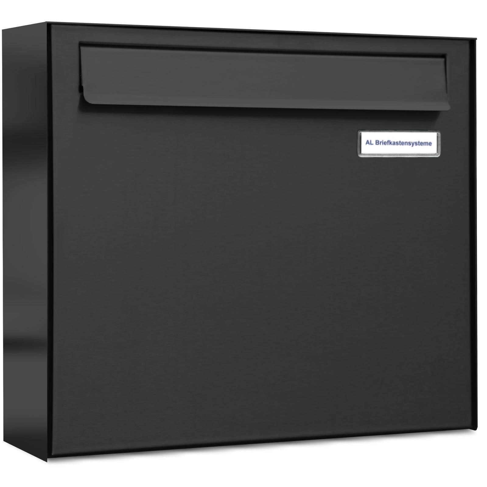 1 er Premium Zaun Durchwurf Briefkasten Anthrazit RAL Fach Postkasten design