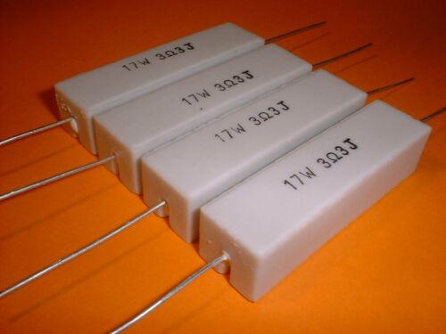 4x 3,3 ohm/17 vatios resistencia alta carga F., por ejemplo, frecuencia suave