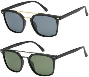 15532d255b Image is loading Polarized-Square-Driving-Brow-Bar-Pilot-Sunglasses-Retro-