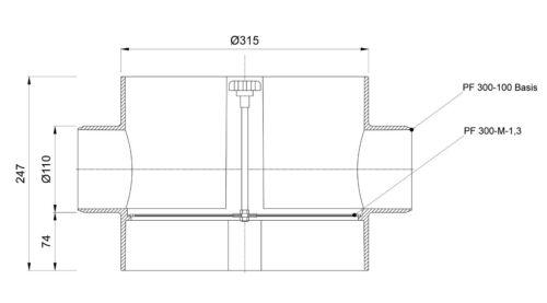 Plurafit Filter mit Filtersieb Tankeinbau Zisterne Intewa Edelstahlsieb