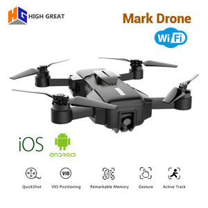 Details about Mark Drone WiFi HD 1080P Camera Video Mini Foldable RC  Quadcopter For Smartphone
