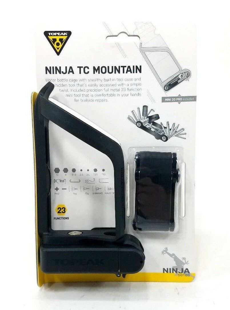 Topeak TNJ-TCM Ninja TC Mountain   Water Bottle Cage & Built-in Bike Multi-Tool