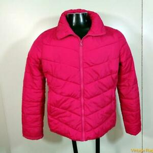 OLD NAVY Polyester Puffer Ski Jacket Parka Womens Size M Pink zippered