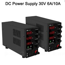 Dc Power Supply 0 30v 0 6a0 10a Precision Variable 4 Digit Led Display Lab Test