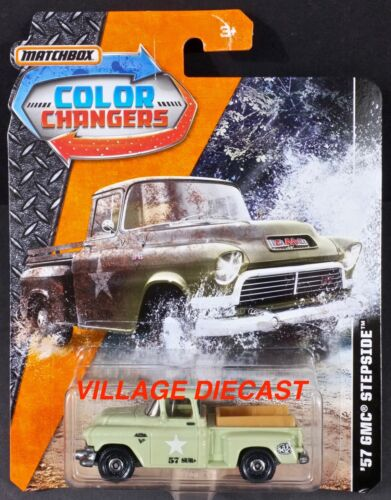 NO CARGO IN BED 2017 Matchbox Color Changers /'57 GMC® Stepside™ OLIVE MOC