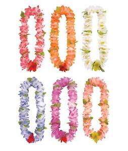 2 X Neon Pink Hawaiian Lei Luau Aloha Fancy Dress Party Flower Garland Stag Hen