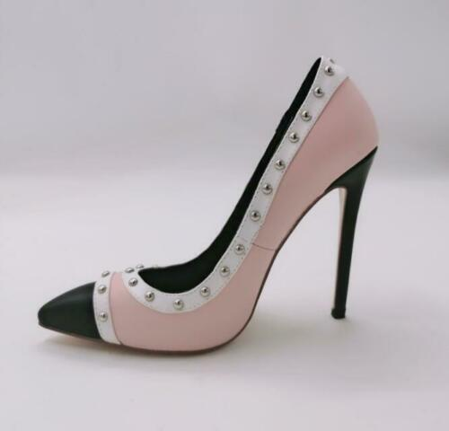 Details about  /Womens Ladies Fashion Pointed Toe Studs Stiletto High Heel Court Shoes Pump OEGI