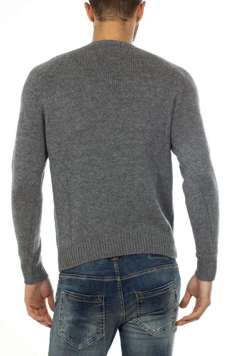 Maglia Maglione Armani Jeans Sweater Sweater Sweater Pullover Lana Uomo Grigio 6X6MD16M0GZ 3901 b5a1da