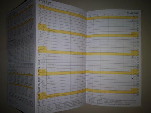 2020 Brunnen Taschenplaner Taschenkalender Einlage 1074600 Leporello Kalender