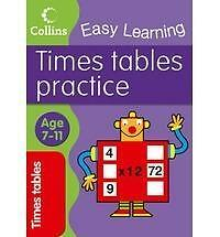 """AS NEW"" Times Tables Practice: Age 7–11 (Collins Easy Learning Age 7-11), Colli"