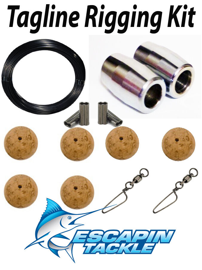 Complete Tagline Rigging Kit. Rigs  two outriggers. Quality Outrigger Parts  team promotions