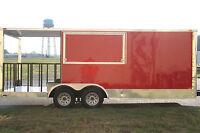 8.5x20 8.5 X 20 Enclosed Concession Food Vending BBQ Trailer 6' Porch Any Color