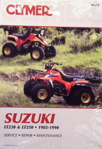 new suzuki lt230g ltf230g 230 quadrunner repair manual ebay rh ebay com