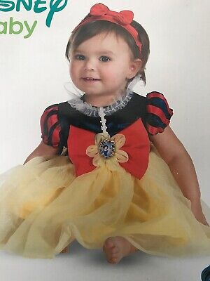 Toddler Babies Costume Outfit Disney Baby Snow White Princess Dress 12-18 mths