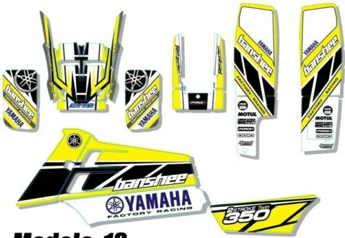 Kit Graphics For YAMAHA BANSHEE 350 KIT decals stickers GRAPHICS yellow 1
