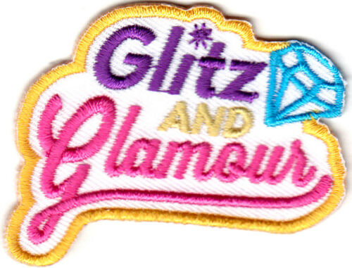 """MAKEUP FASHION /""""GLITZ AND GLAMOR/"""" BEAUTY GIRLY IRON ON EMBROIDERED PATCH"""