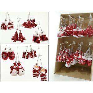 Addobbi Natalizi Bianchi.Decorazioni In Rosso E Bianco Per L Albero Di Natale Assortiti Addobbi Natalizi Ebay