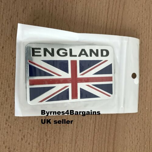 car badge UK flag union jack van truck brushed aluminium UK seller