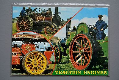 TRANSPORT ANTIQUE TRACTION ENGINE STEAM TRACTOR POSTER ART PRINT BB3273B