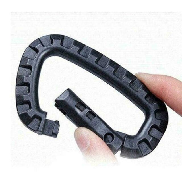 Carabiner Snap Hanging Hook D-Ring Strong Tactical Link Color Tac EDC Tool L0Z1