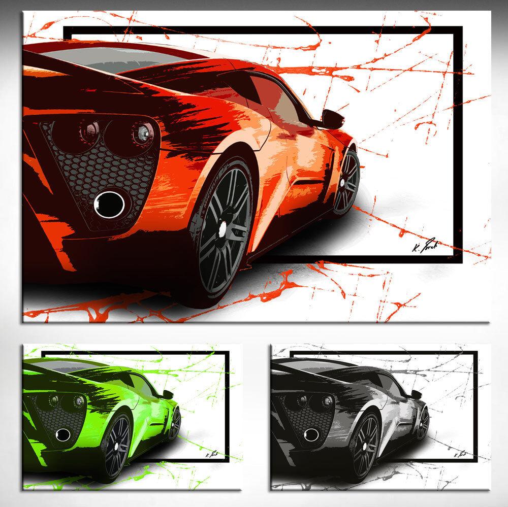 Auto Pop Art Sportwagen Bild Leinwand Abstrakte Kunst Bilder Wandbilder D0948