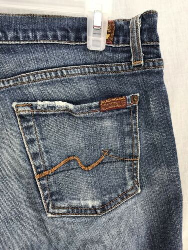 33 Mankind Blue Donna Jeans Distressed 7 For Washed X 30 All Bootcut Faded ATqEHw0