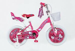 16 zoll 16 hello kitty kinder m dchen rad kinderfahrrad. Black Bedroom Furniture Sets. Home Design Ideas