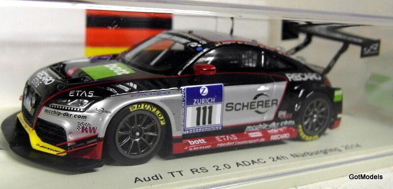 Spark 1 43 Scale SG139 Audi TT RS 2.0 ADAC 24H Nurburgring 2014 Resin model car