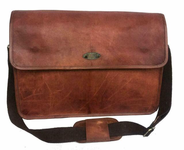 Handmade Fine quality Vintage Leather Messenger Laptop Shoulder Bag Satchel