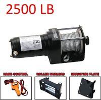 2500 Lb Atv Winch Electric 12v Volt 4 Wheeler Trailer