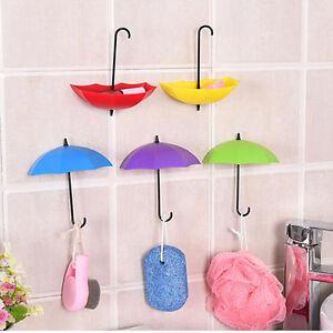 3pcs-Cute-Umbrella-Wall-Mount-Key-Holder-Hook-Hanger-Organizer-Durable-Colorful