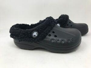 e9405d39d8 Image is loading New-Toddler-Crocs-Baya-Lined-Clogs-Black-J33