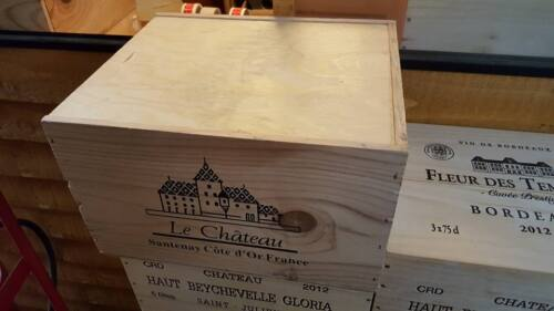 1 X 6 BOTTLE WITH LID GENUINE FRENCH WOODEN WINE CRATE BOX CHRISTMAS GIFT IDEA