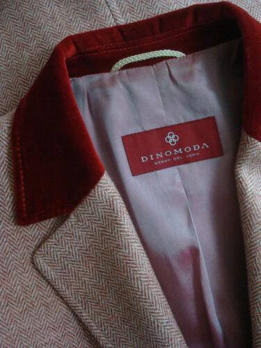 16 Herringbone Pink eu42 Cashmere Tweed Vintage Dino Uk Jacket Moda Xl amp; Wool qRwWxgaP