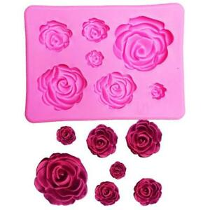7-Roses-Cavity-Rose-Flower-Mini-Silicone-Baking-Chocolate-Candy-Fast-Mold-DB