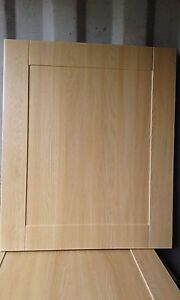 Shaker Light Oak Kitchen Cupboard Doors And Drawers To Fit Most Types Of Units Ebay
