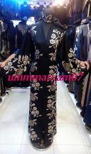 Latest Design Open Front Dubai Abaya Style Kaftan Farasha  Maxi Dress Abaya