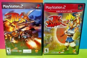 Jak-X-Combat-Racing-Jak-Daxter-1-PS2-Playstation-2-Tested-Game-Lot-COMPLETE
