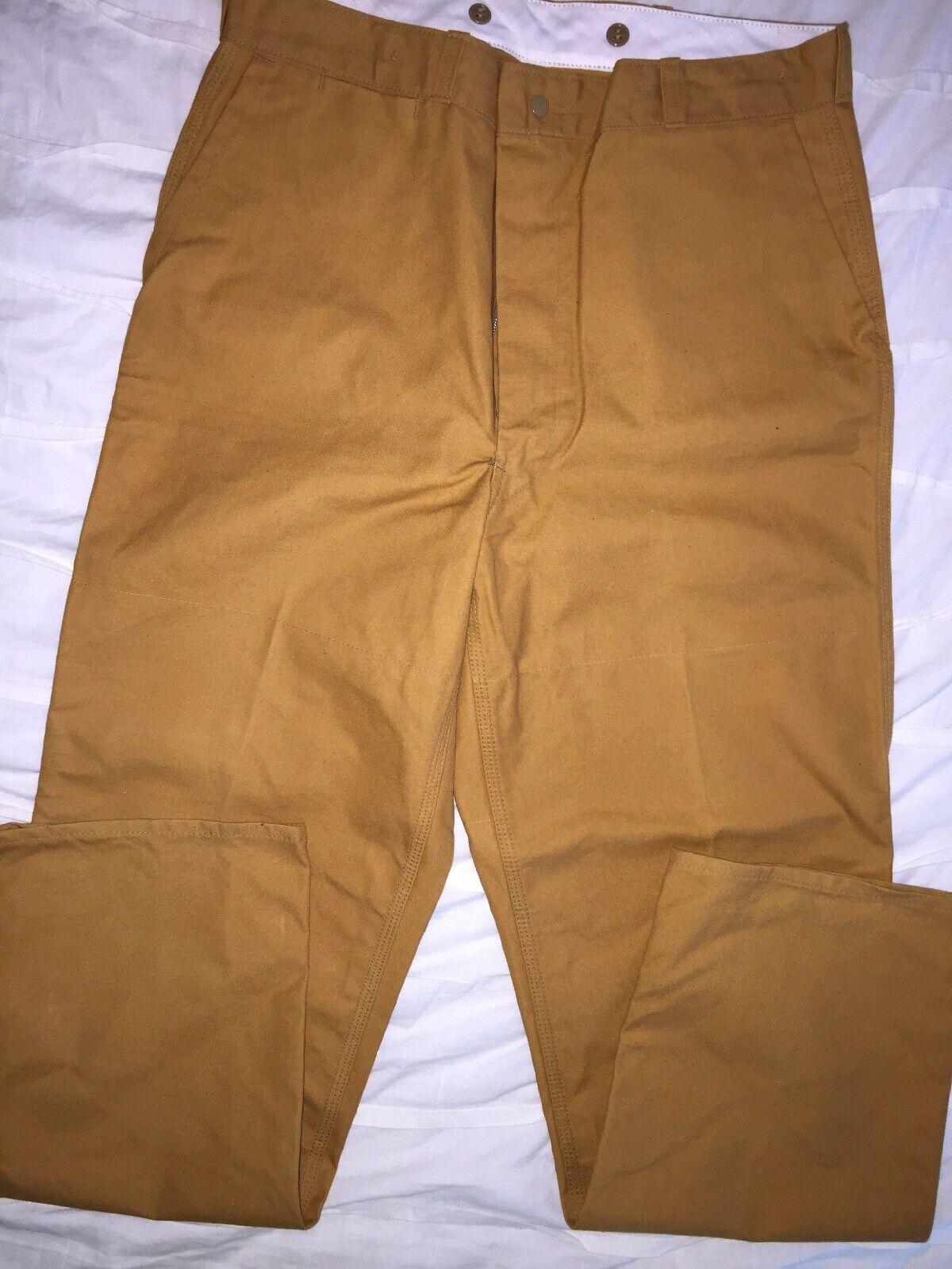Vintage negro Sheep Pantalones De Campo estándar 32 34 X Nº 1015 Resistente Rígido de caza