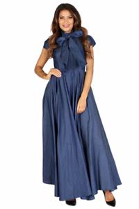 Details about Plus Size Denim White Maxi Dress