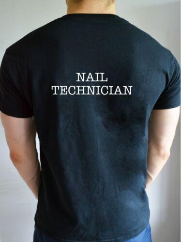 Printed NAIL TECHNICIAN Work Parlour Salon Beauty Make Up Job T Shirt Top Tee
